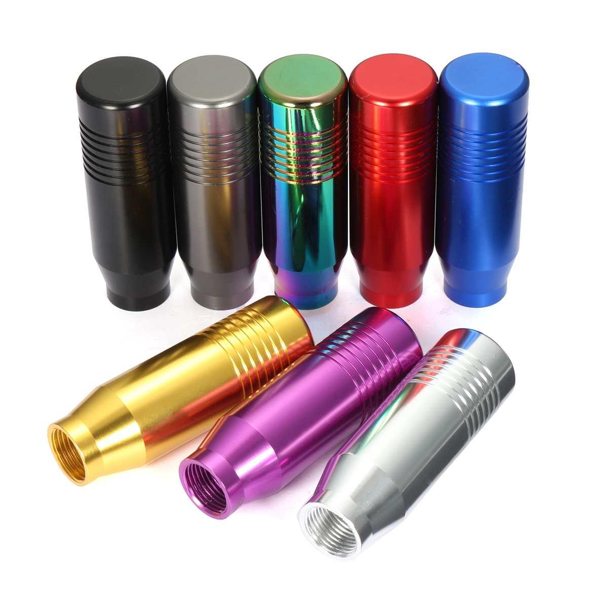 8 색 범용 자동차 알루미늄 수동 기어 시프트 노브 스틱 수동 변속기 기어 스틱 레버 시프터 노브