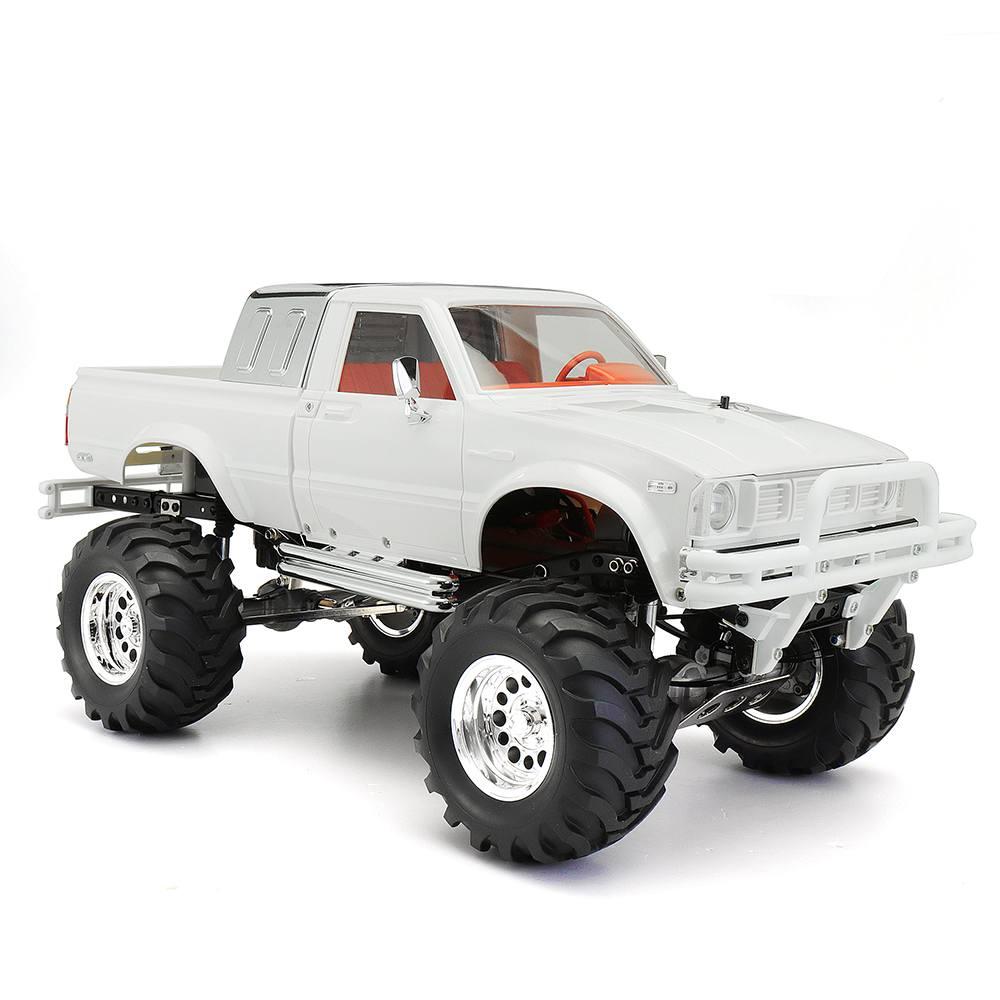 HG P407A 1/10 2.4G 4WD Rc Car Kit for TOYATO Metal 4X4 Pickup Truck No Servo Battery ESC Transmitter DIY RC Kids Toys