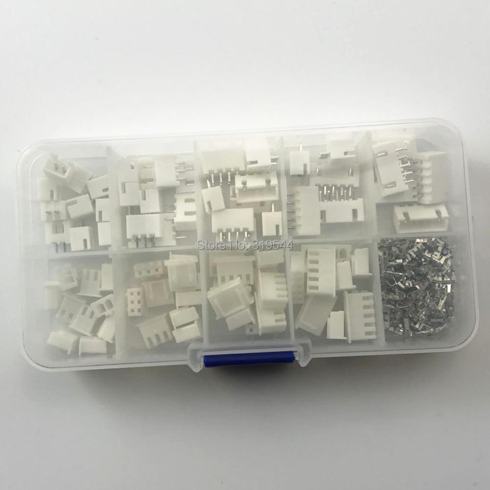 230pcs XH2.54 2pin 3pin 4pin 5pin 2.54mm Pitch Terminal Kit / Housing / Pin Header JST Connector Wire Connectors Adaptor XH Kits