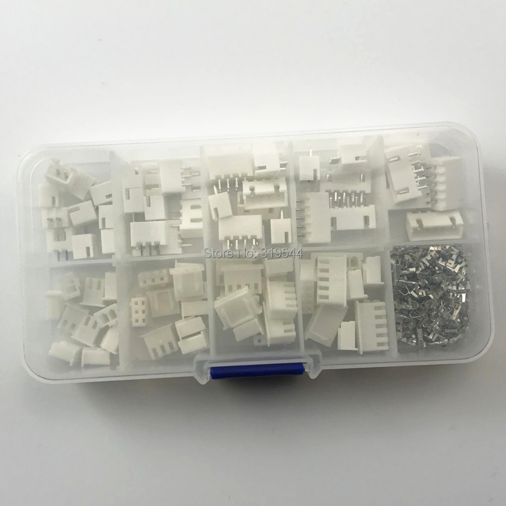 230pcs XH2.54 2pin 3pin 4pin 5pin 2.54mm Pitch Terminal Kit / Housing / Pin Header JST Connector Wire Connectors Adaptor XH Kits230pcs XH2.54 2pin 3pin 4pin 5pin 2.54mm Pitch Terminal Kit / Housing / Pin Header JST Connector Wire Connectors Adaptor XH Kits