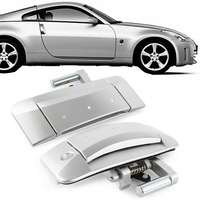 1Pair Front Left & Right Outside Outer Silver Door Handle For Nissan 350Z 2003 2004 2005 2006 2007 2008 2009 Left Driver Only