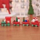 1pcs Hot Cute Wood Christmas Train Ornament Decoration Decor Gift