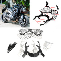 CNC Motorcycle Headlight Grille Headlamp Grill Guard Cover Protector For Kawasaki Z900 Z 900 2017 2018 Black/Silver
