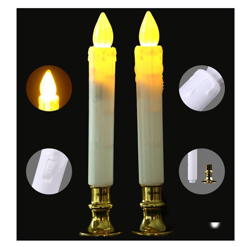 Haus & Garten Whism 2 Teile/satz Elektrische Flammenlose Led Kerzen Lichter Mit Batterie Sicherheit Simulation Kerze Lampen Hochzeit Geburtstag Party Decor