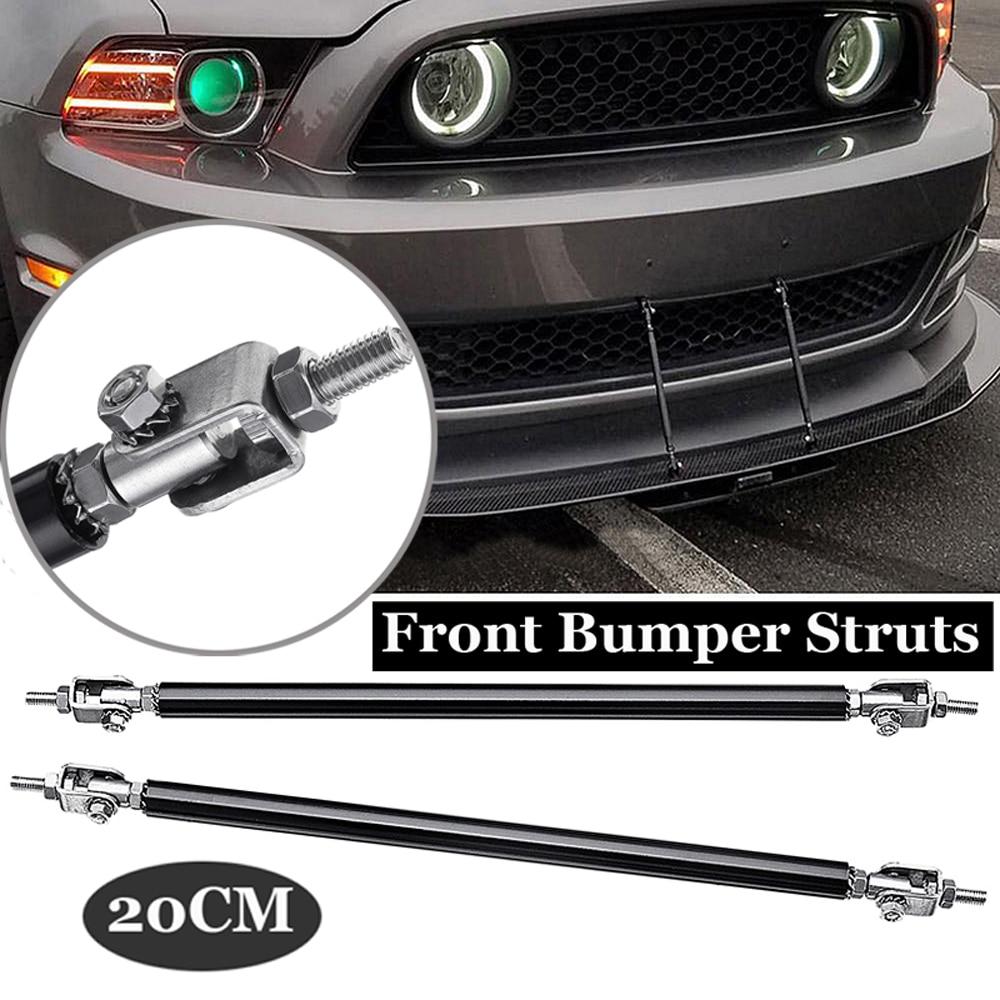 """Silver Adjustable  8/""""-11/"""" Front Bumper Splitter Strut Rod Bars Support For BMW"""
