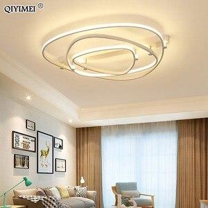 Image 1 - 조 광 기 led 천장 조명 원격 제어 아크릴 램프 천장 침실 플러시 마운트 현대 홈 장식 luminaire