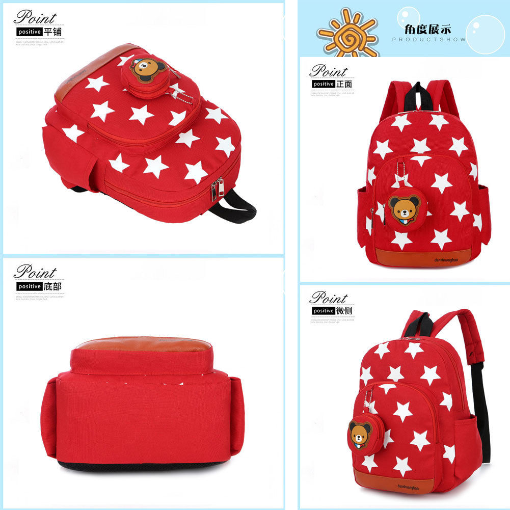 b4625b4f86c3 Stars Printing Nylon Children Backpacks Kids Kindergarten School Bags  Backpacks Baby Boys Girls Nursery Toddler Cute Rucksack-in School Bags from  Luggage ...