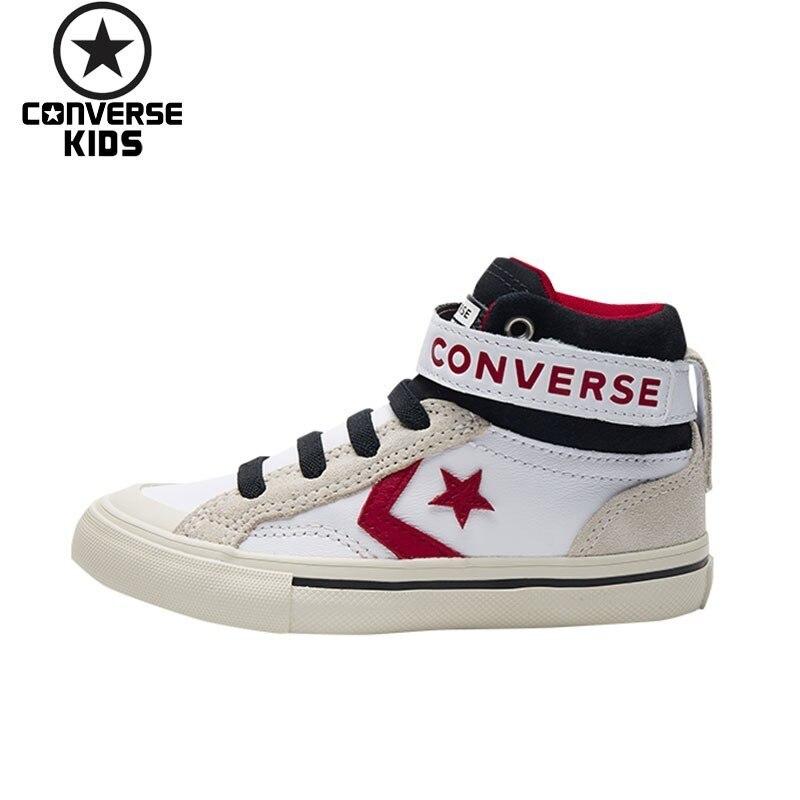 CONVERSE детская обувь осень и Новинка зимы продукт высокого помощь скейт обувь для мальчиков Для Досуга кроссовки # 662756C