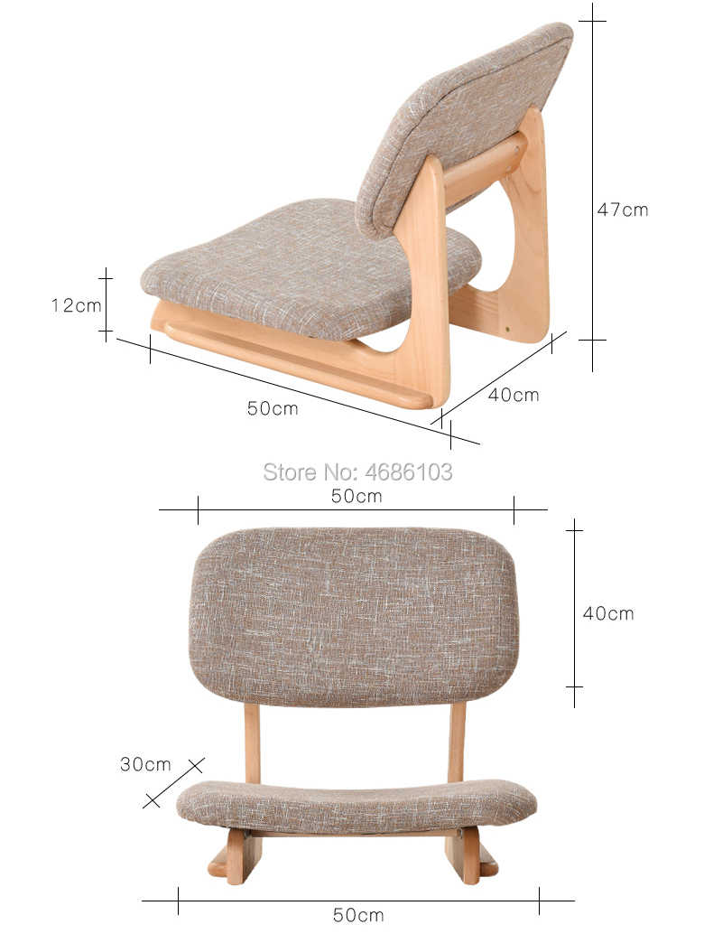 Japanese Chair High Quality Strong Japanese Chair Meditation Chair Tatami Floor Chair Seating With Back Support For Living Room Furniture
