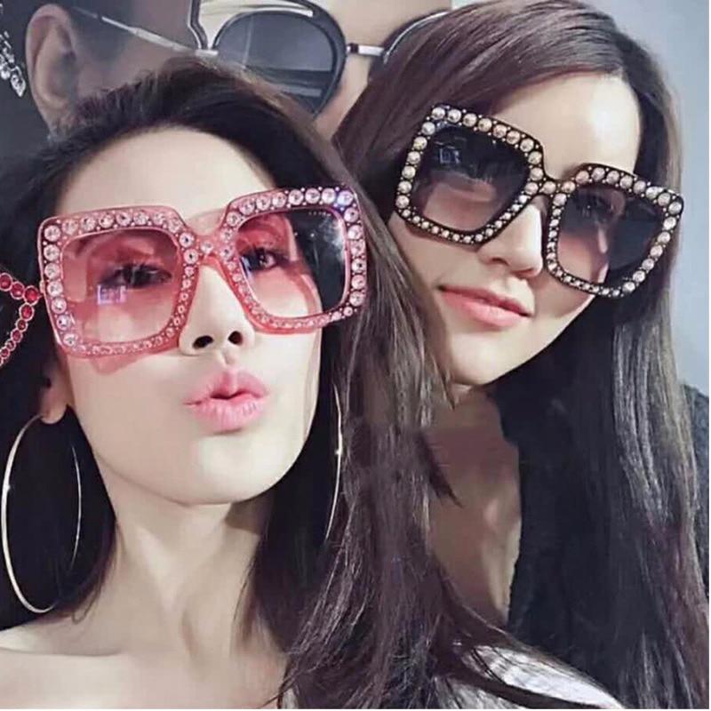 Black Frame glasses sunglasses for women men oculos feminino glasses sunglasses Mirror Man Big woman lentes de sol mujer