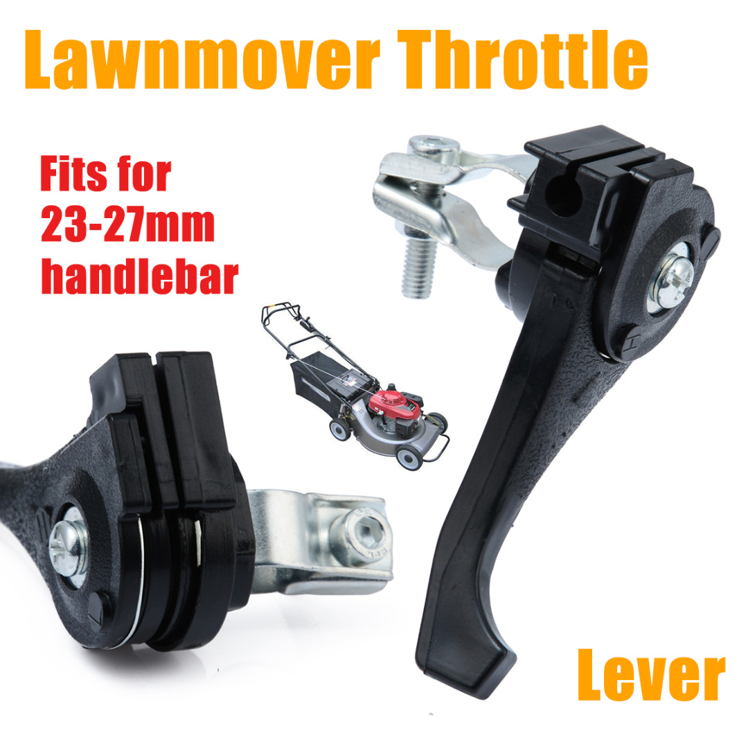 Universal Black Lawnmover Throttle Lever For 23mm - 27mm Lawn Mower Handlebar Garden Tools