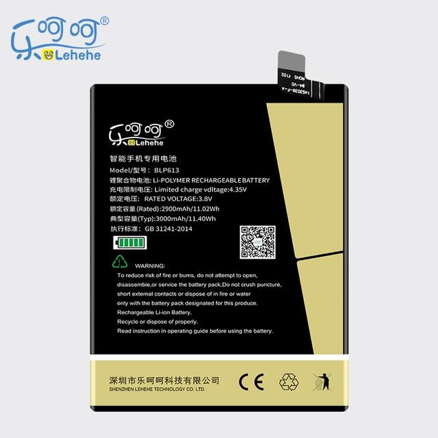 Nova LEHEHE BLP613 3 Bateria para OnePlus One Plus 3 Três 3000 mAh Substituição Bateria Do Telefone Móvel com Ferramentas Presentes