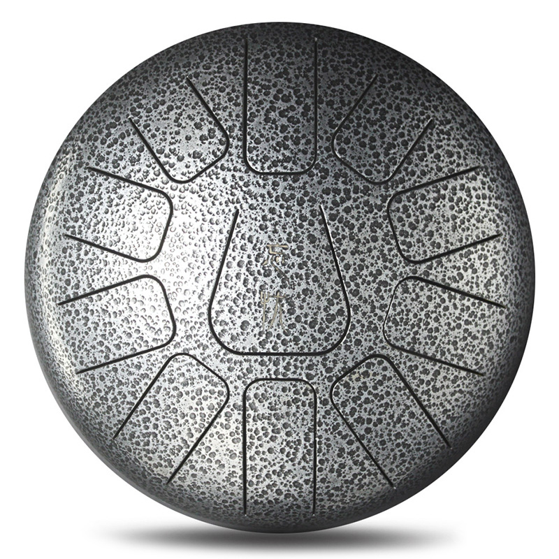 12 Inch Mini 11 Tone Steel Tongue Percussion Drum Handpan Instrument With Drum Toy Musical Instrument - 5