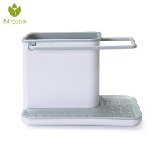 Новейшая губка кухня коробка подставка для сушки тарелок самослива Раковина Коробка для хранения шкаф-органайзер для кухни подставки посуда полотенца стойки