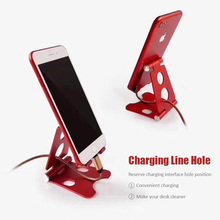 Phone Holder Desk Stand for iPhone Ajustable Aluminum Multi-angle Portable Universal Mobile