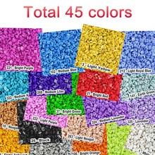 2000 шт./лот, обучающая игрушка, пластиковые маленькие строительные блоки, аксессуары для кирпича, 1X1 пластина, 45 цветов, пиксель, игрушки для детей