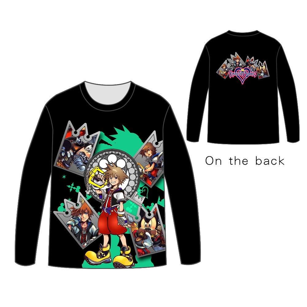 Hot Anime  Kingdom Tops Unisex Cosplay dress Long sleeve kingdom hearts T shirt Tees t
