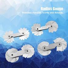 цена на 4pcs/Lot Measuring Gage Stainless Steel Radius Gauge Fillet Radius Gauges Measuring Tool Ruler carpenter tools