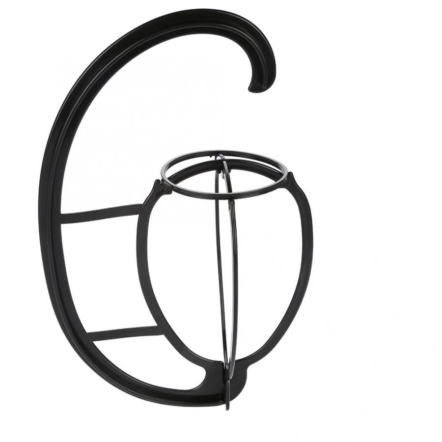 1pc Wig Stands Head Hat Cap Holder Plastic Folding Stylish Hook Type Stand Foldable Hats Storage Rack Wigs Support Dryer Tool