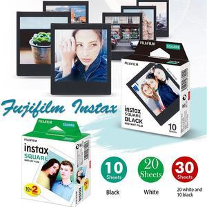 Image 5 - 후지 필름 폴라로이드 포토 용지 Instax Square Film Instax Sq10 Sq6 Sq20 인스턴트 카메라 용 화이트/블랙 에지 인화지