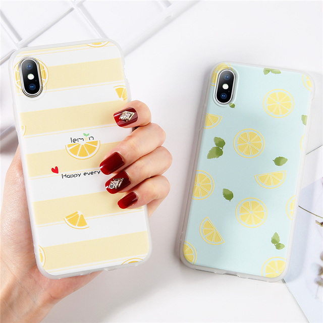 Lemon Fruit Patterned Phone Cases For iPhone