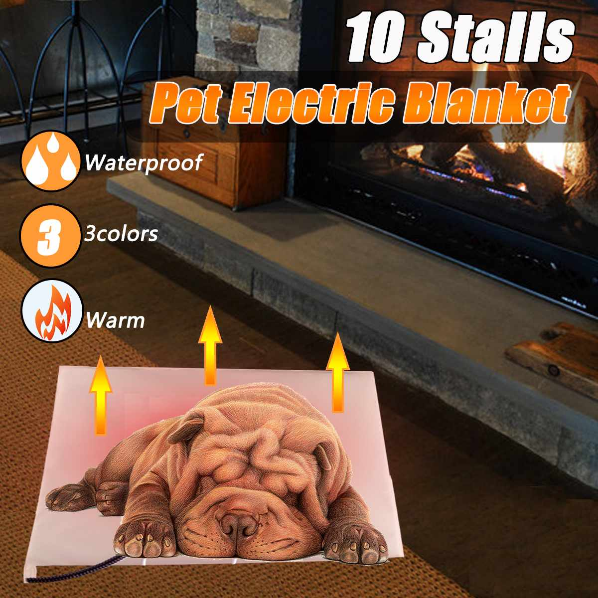 Waterproof Electric Heating Pad 10 Stalls Adjusted Temperature Scratch Prevention Cat Dog Bed Winter Warm Electric Blanket MatWaterproof Electric Heating Pad 10 Stalls Adjusted Temperature Scratch Prevention Cat Dog Bed Winter Warm Electric Blanket Mat