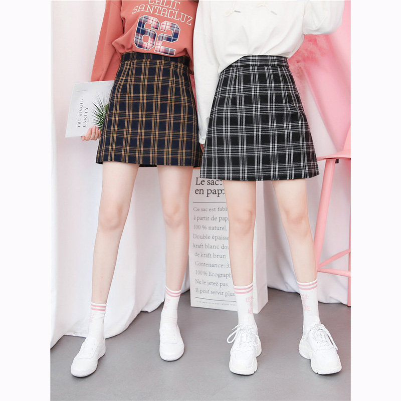 34169f6b71 Retro Korean Preppy Style Plaid Skirt Women College Teenager Mini A line  Chic Mini Short Skirt Ulzzang Outfit Tumblr Dropship-in Skirts from Women's  ...