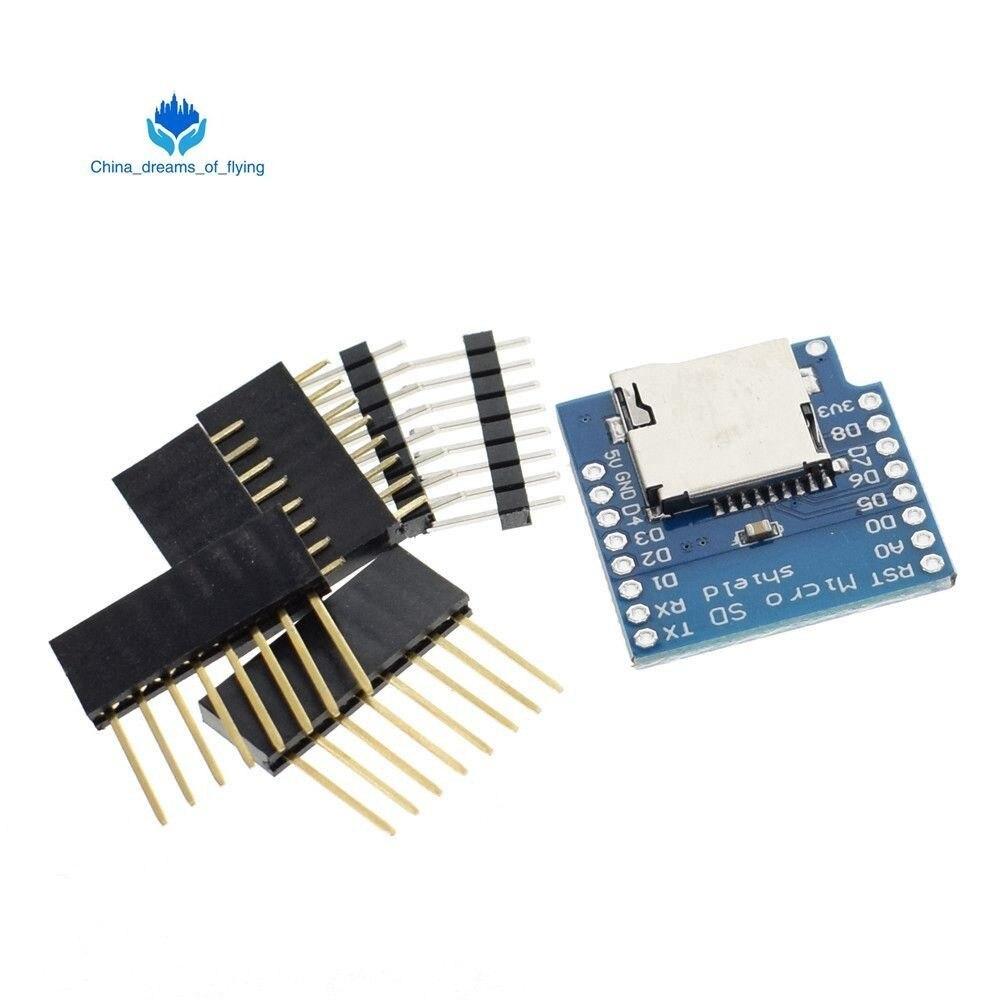 Бесплатная доставка 1 шт. ShengYang Micro SD щит для WeMos D1 mini TF