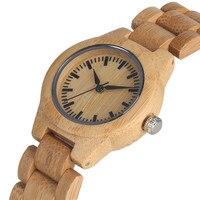 Relogio Feminino High Quality Lightweight Bamboo Quartz Watch Movement for Women Classic Unique Natural Handmade Wood Watches