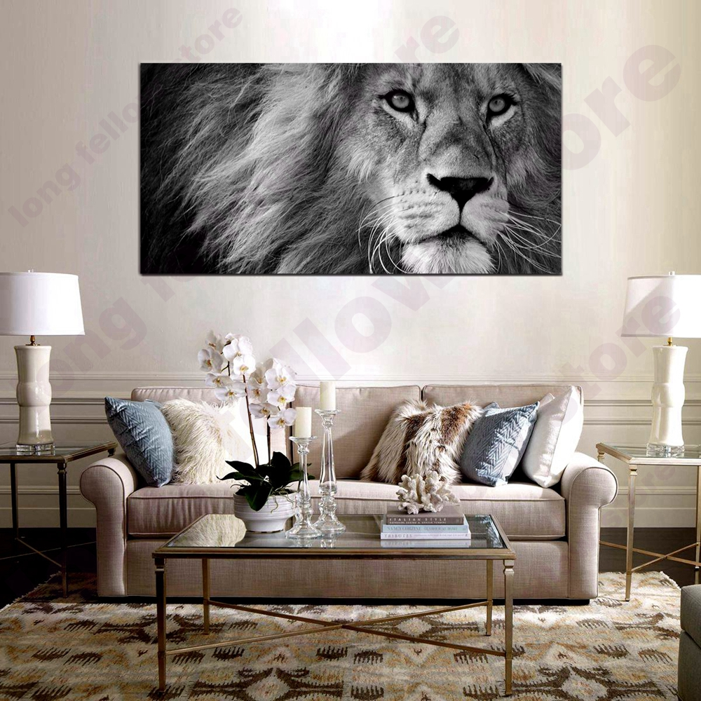 Us 18 0 Cool Lion Posters And Prints Hd Pictures Dining Room Wall Decor Animal Artwork Art Home Decorations Office Canvas In Painting