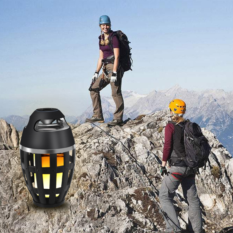MEMTEQ Flame Lamp Bluetooth Speaker I3 Creative LED Wireless Bluetooth Outdoor Speaker Camping Climbing Equipment High Quality in Outdoor Speakers from Consumer Electronics