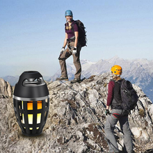 MEMTEQ Flame Lamp Bluetooth Speaker I3 Creative LED Wireless Outdoor Camping Climbing Equipment High Quality