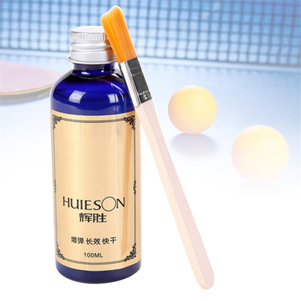100ml Professional Speed Liquid With Special Brush Pingpong Racket Rubbers Table Tennis Glue For School Tennis Trainer Robots