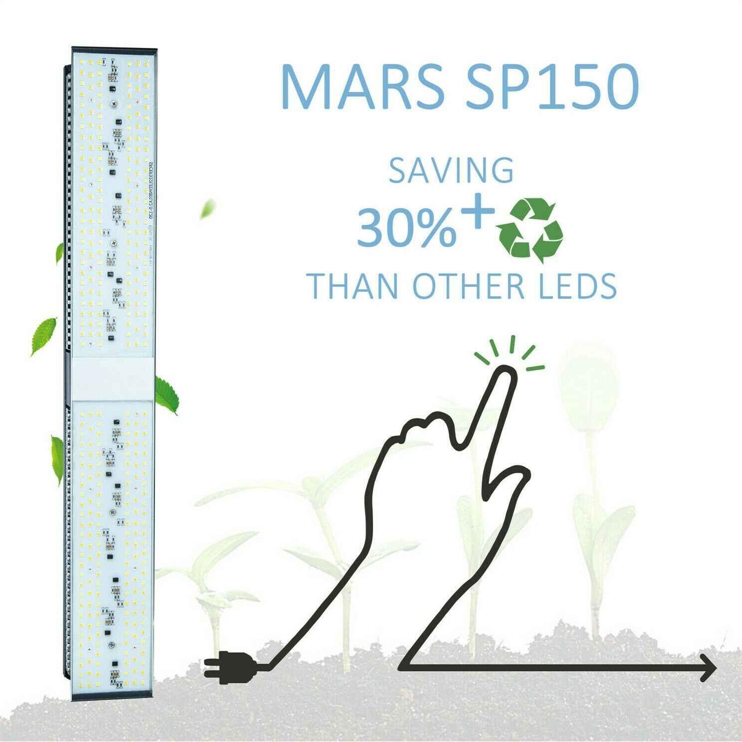 Più nuovo Mars Hydro SP 150 250 LED Coltiva La Luce a Spettro Completo Impianto Al Coperto Veg Fiore Lampada Meanwell Driver Zero Rumore impermeabile