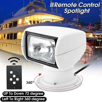 Smuxi 12 в 100 Вт 2500LM 3200 к лодка автомобиль грузовик Spotlight морской прожектор лампочка пульт дистанционного управления ПК + алюминиевый многоуглов...