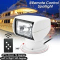 Smuxi 12V 100W 2500LM 3200K Boat Truck Car Spotlight Marine Searchlight Light Bulb Remote Control PC+Aluminum Multi-angled White