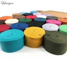 Lshangnn 5 Meter 38mm Polyester/Cotton Ribbon Canvas Webbing/Strap Tape For Bag Strapping Belt Making Sewing DIY Craft Home