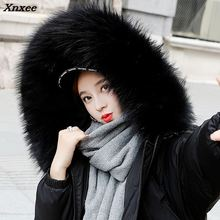 2018 Warm Hooded Fur Collar Overknee Long Parka Plus Size Winter Jacket  Women Coat Thick Cotton Padded Loose Inverno Casaco цены