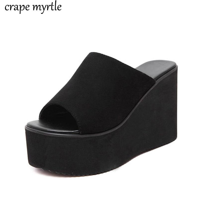 Summer Wedge Slippers Sandalias Flip Flop Plataforma Women Slipper Ladies Outside Shoes Wedge Slipper Flip Flop Sandals Yma794 Slippers Aliexpress