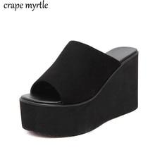 Summer Wedge Slippers sandalias flip flop plataforma Women Slipper Ladies Outside Shoes Wedge Slipper Flip Flop Sandals YMA794 все цены