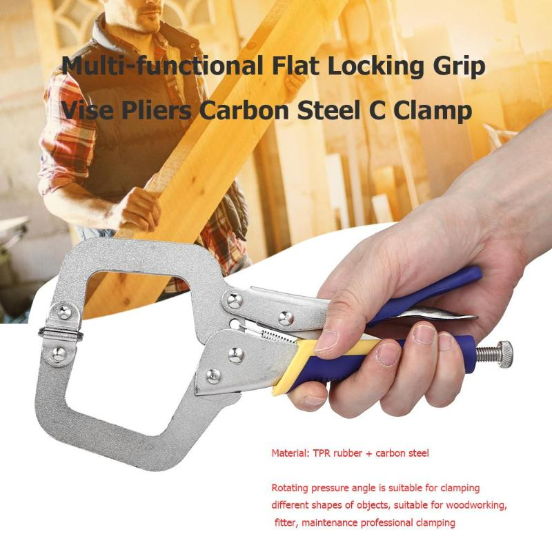 6 inch Alloy Steel C Clamp Vise Grip Locking Welding Quick Pliers Pincers Tongs Forceps Wood Tenon 9 Types title=