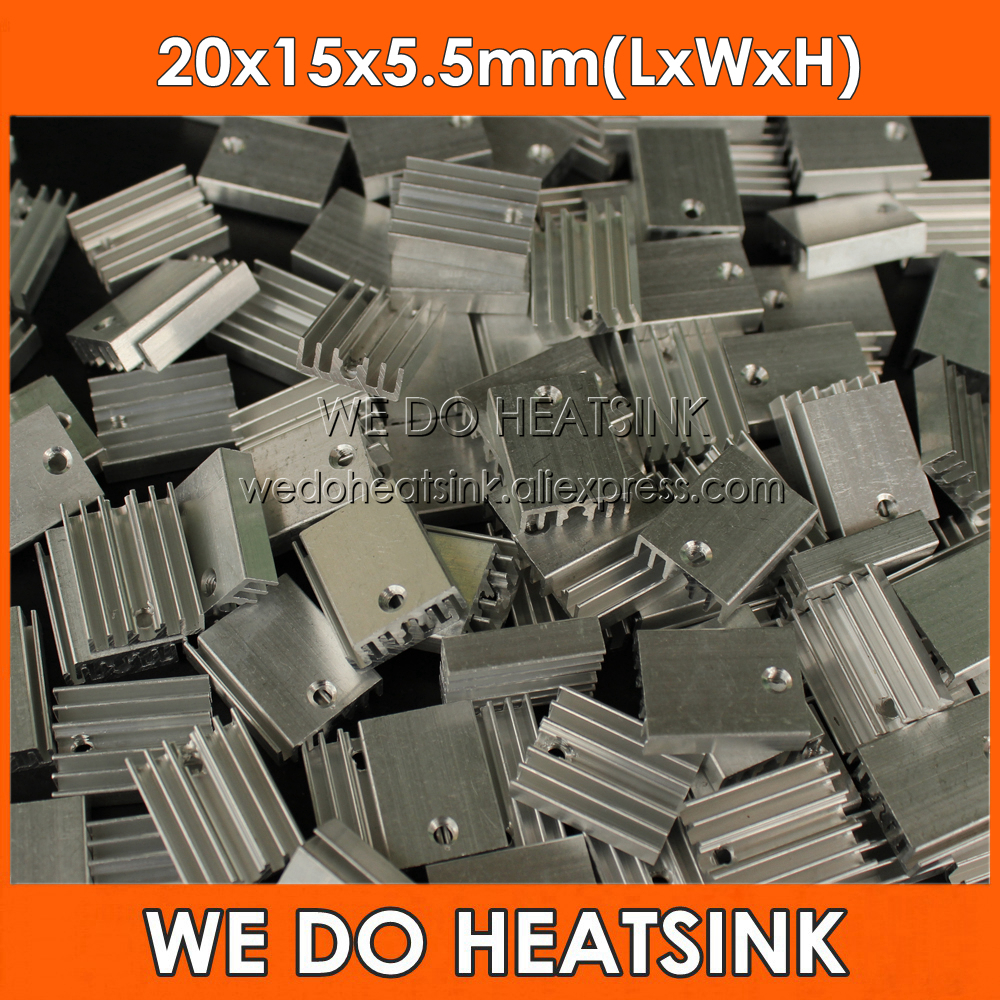 FREE Shipping 20pcs 20x15x5.5mm Heatsink Aluminum For 1W 3W 5W LED With M3 Screw Hole