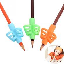 3 шт./компл. детей карандашница Инструменты Силиконовые два пальца эргономичный коррекции осанки Инструменты Карандаш сцепление захват для помощи в письме#16
