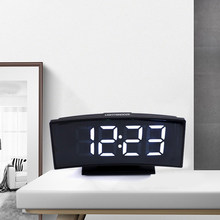 3 In 1 Digital Clock Thermometer Calendar Multifunctional Large Screen Electronic Table Clock Mute LED Mirror Type Alarm Clock(China)