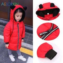 11,11 зимнее пальто с капюшоном, детские куртки для девочек, пальто для мальчиков, детская теплая верхняя одежда, плотное пальто, зимний пуховик, одежда