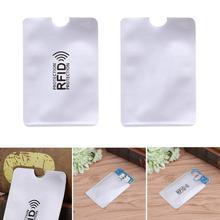 1 szt anty RFID blokowanie czytnik blokada karty kredytowej posiadacza ID karty kartoteki ochrona RFID metalowa karta kredytowa Holder aluminium 2018 tanie tanio Z TEAEGG Unisex Plastikowe Casual Literę Bez zamków błyskawicznych Poduszkę YQ0569D30P20 Aluminium + tworzywo sztuczne + anty-magnetyczne