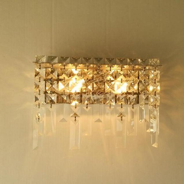 Hallway K9 clear Crystal Wall lamp sconce for bedroom make up mirror wall fixture living room bedside wall light  led Arandela