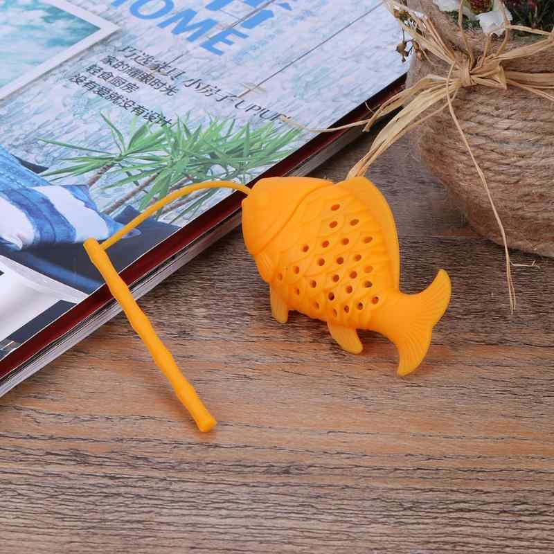 Fish Shape Tea Infuser Food Grade Silicone Spice Herbal Tea Strainer Loose Leaf Filter Fish Shape Tea Infusers Ball Accessories