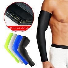 Баскетбол барсер длинный стиль упражнения Велоспорт рука солнцезащитный крем РУКИ локоть теплые Нескользящие тонкие защитные ноги защитные манжеты