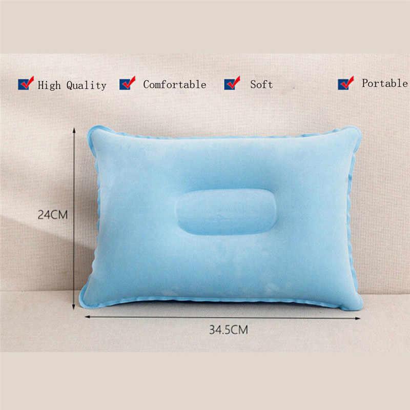 Portable Ultralight Inflatable PVC Nylon Air Tidur Bantal Perjalanan Wisata Kamar Tidur Di Pantai Mobil Pesawat Kepala Istirahat Dukungan